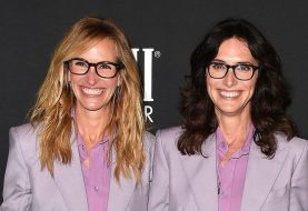 Julia Roberts And Her Stylist Elizabeth Stewart Wore Matching Givenchy Suits To A Fashion Party