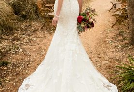Dramatisches Vintage Hochzeitskleid