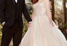 Trägerloses Plus Size Brautkleid
