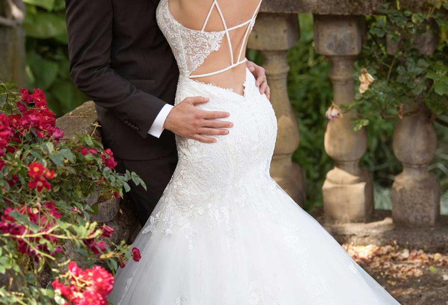 Schiere Spitze Meerjungfrau Hochzeitskleid