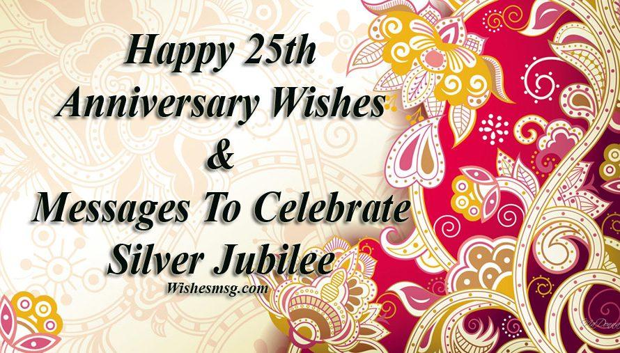 25th Wedding Anniversary Wishes And Messages Hochzeitszeit