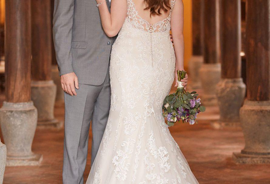 Plus Size Brautkleid mit reichhaltiger Spitze