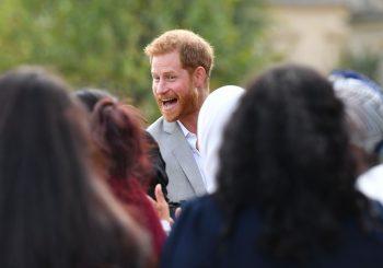 Prinz Harry wurde vom Internet gestohlen, als er Samosas bei der Einführung von Meghan Markles Kochbuch stahl
