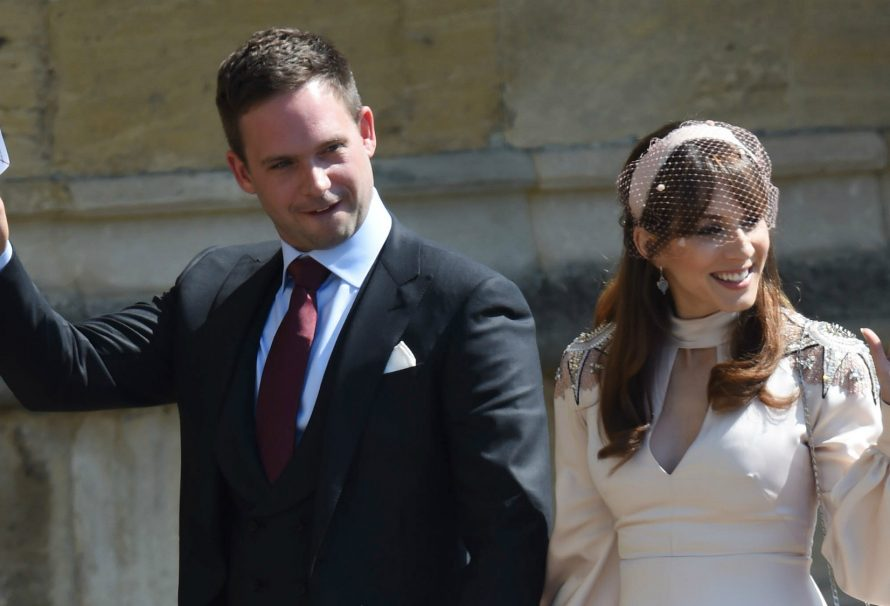 Meghan's Suits co-star Patrick J. Adams has apologised for the royal wedding body shaming incident