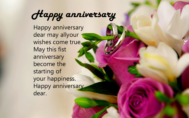 first anniversary wishes for facebook