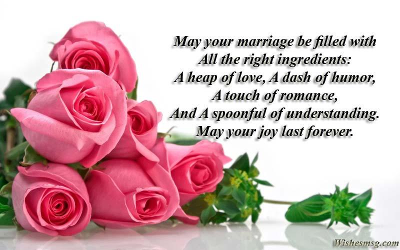 Happy-Marriage-Wünsche und Botschaften für Freunde