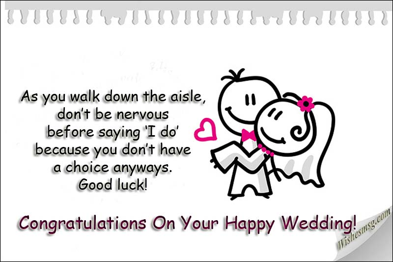 Lustige Hochzeitswünsche für Freunde