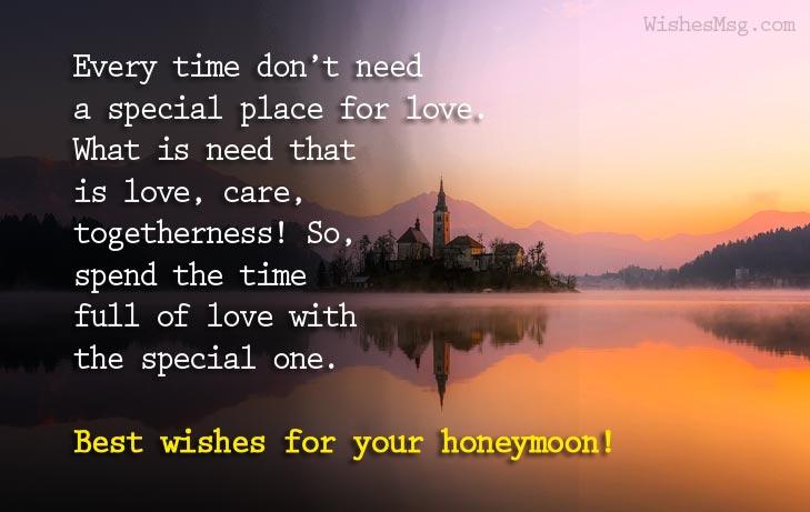 sweet honeymoon wishes for couple