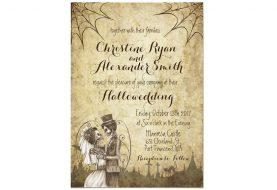 Halloween-Hochzeitseinladungen, die Ihre Gäste noch nicht gesehen haben