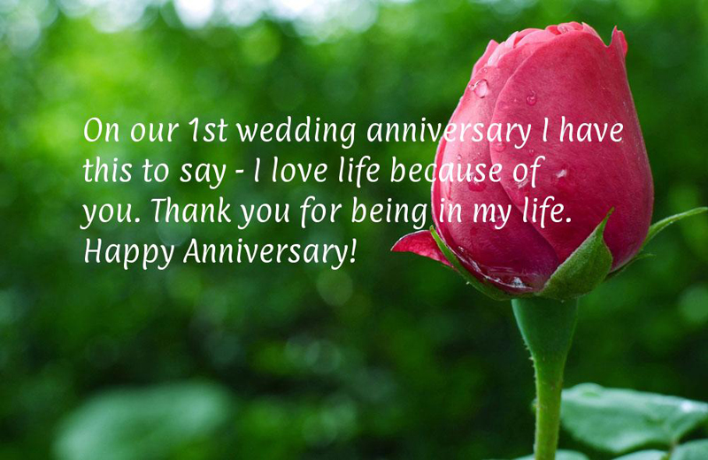 first anniversary couple wishes quotes