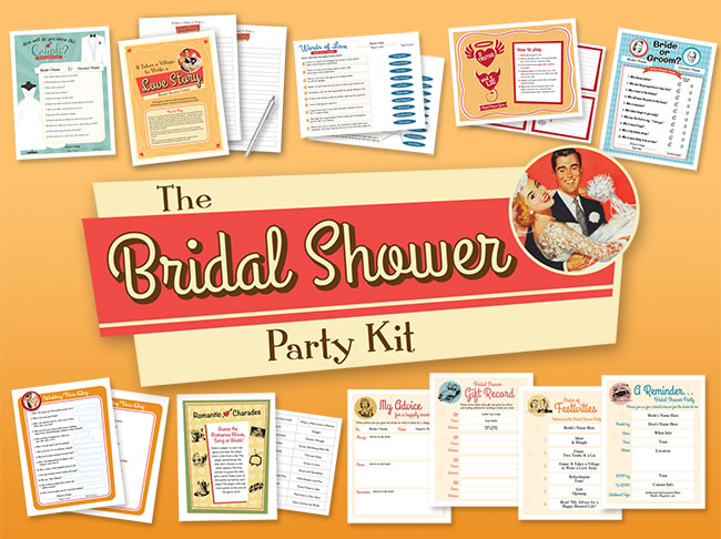 Bridal Shower Party Kit Bild