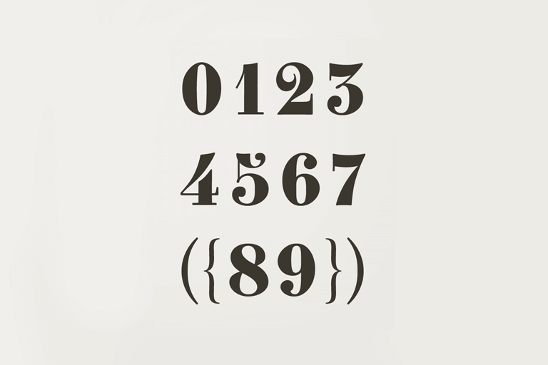 30+ Best Number Fonts for Displaying Numbers
