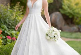 Classic Ballgown Wedding Dress with Lace Detailing