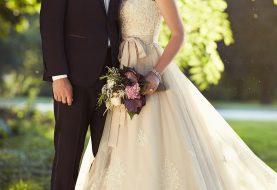 Spitze auf Tüll Designer Brautkleid