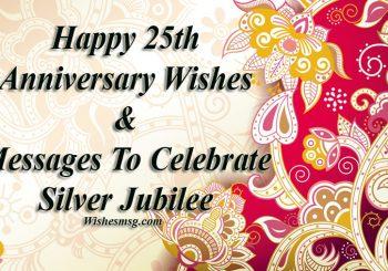 25. Hochzeitstag Wünsche und Botschaften