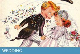Hochzeitswunschkarte und Mitteilungen