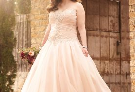 Plus Size Pink Princess Brautkleid
