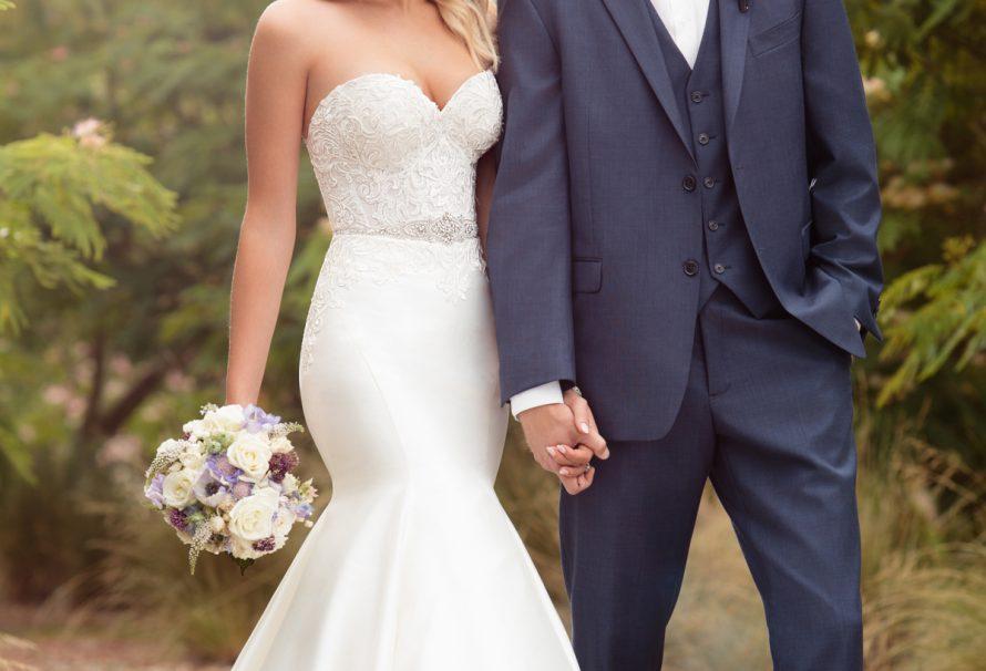 Klassische Trompete Hochzeitskleid