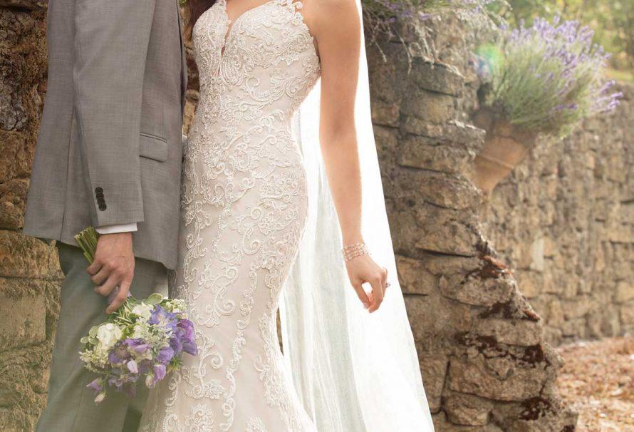 Brautkleid mit reichhaltiger Spitze