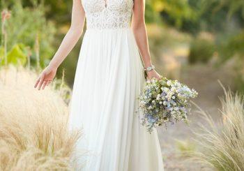Beach Boho Chiffon Wedding Gown