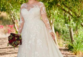 Modest Plus-Size Wedding Dress with Sleeves