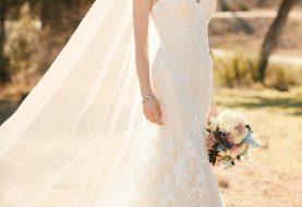 Spitzenkleid und Flare-Brautkleid