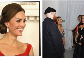 Kate Middleton Rewore Festive Red Preen Dress For Surprise Royal Foundation Dinner With Meghan Markle