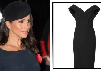 Meghan Markle Wore A Marks & Spencer Dress For Under £50 For A Remembrance Weekend Event