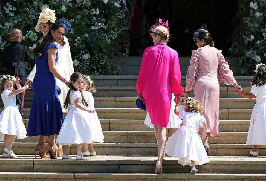 Prinz George und Prinzessin Charlotte wirken bei der königlichen Hochzeit als Pagode und Brautjungfer entzückend